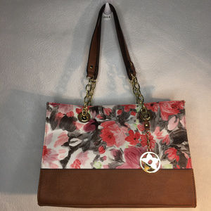 Bueno Floral Double Handled Tote/Purse ShoulderBag